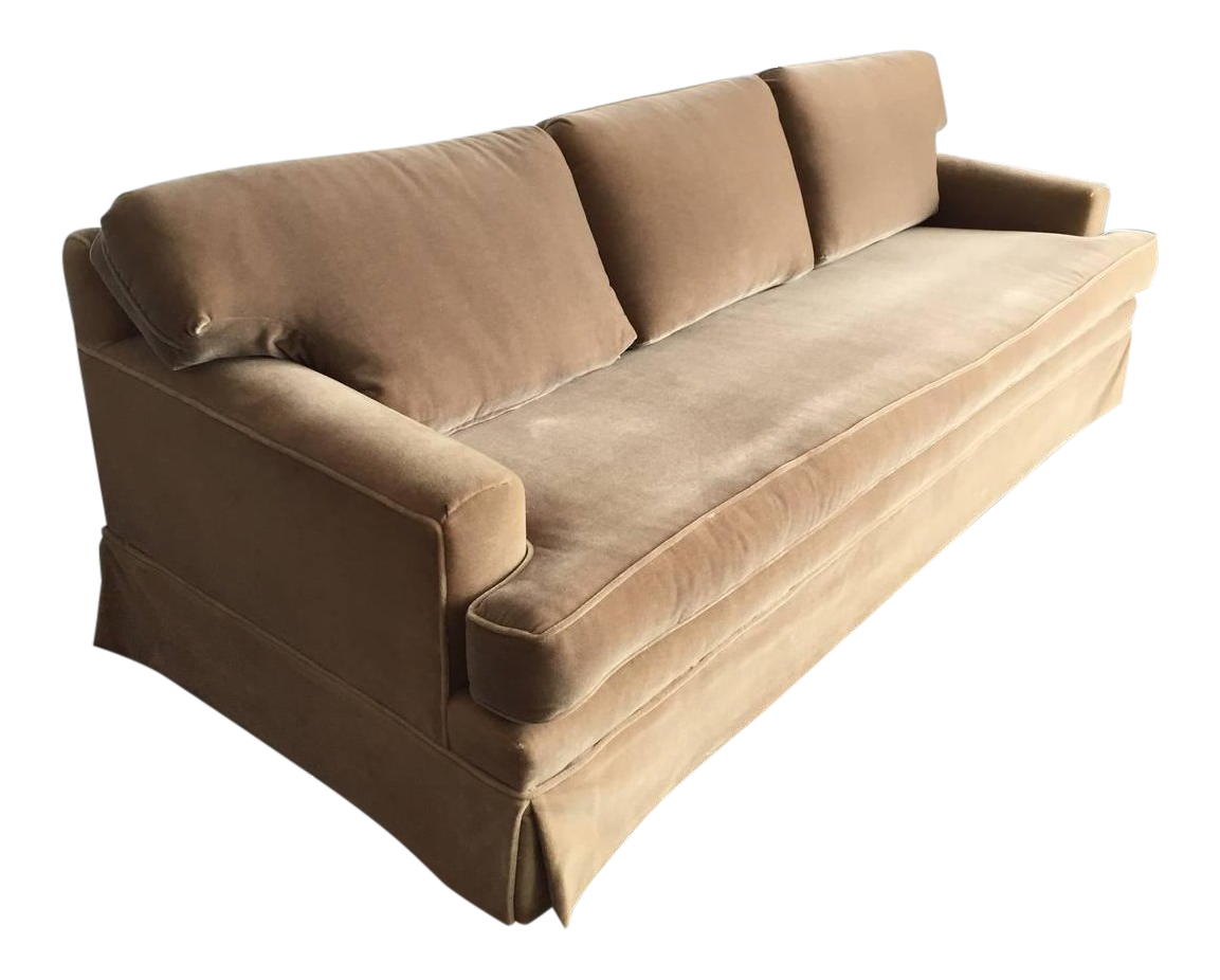 Extra Long Classic JMF Style Mohair Sofa   Image 1 Of 5