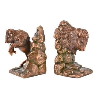 Copper Buffalo Bookends
