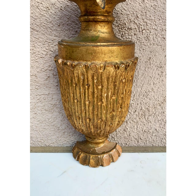 Hollywood Regency Giltwood Wall Sconces - a Pair For Sale - Image 4 of 12