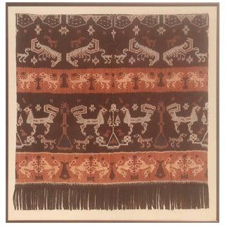 19th Century Framed Indonesian Ikat Art From Steve Chase Palm Springs Estate For Sale