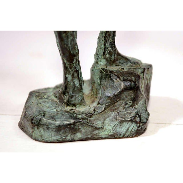 Bronze Pair of Mid-Century Modern Bronze Sculpture Holders For Sale - Image 7 of 10