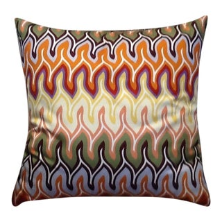 Custom Made Missoni Nadaun Fabric Pillow