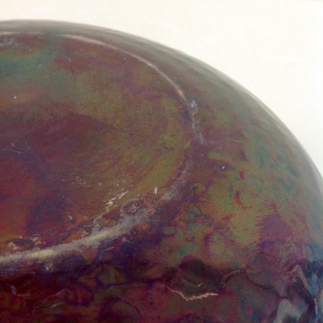 Iridescent Mixed Metal Vase For Sale In Dallas - Image 6 of 8