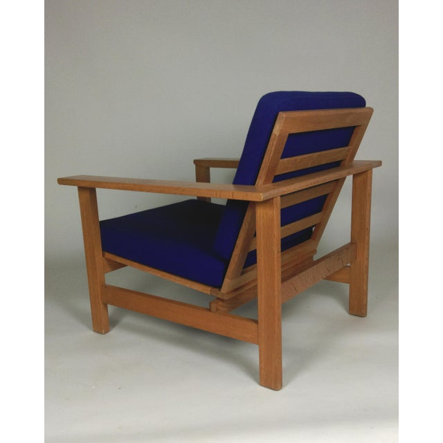 1980s 1980s Frederecia Furniture Soren Holst Danish Oak Lounge/Easy Chair For Sale - Image 5 of 10