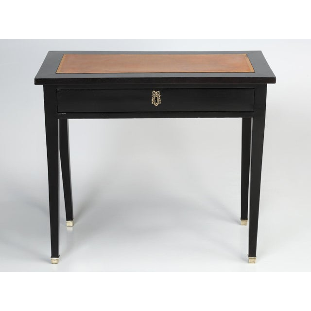 Late 19th Century Antique French Ebonized Writing Table For Sale - Image 5 of 11