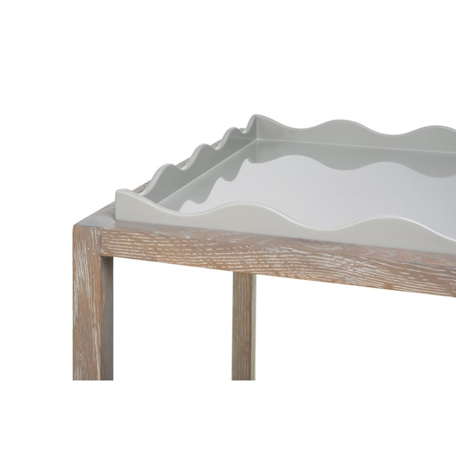 Contemporary Belles Rives Nightstand in Pale Grey / Cerused Oak - Rita Konig for The Lacquer Company For Sale - Image 3 of 4