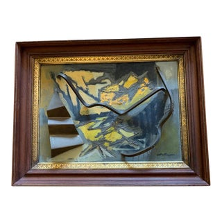 Early 50's Mid-Century Abbott Pattison Abstract Sculpture/Painting For Sale
