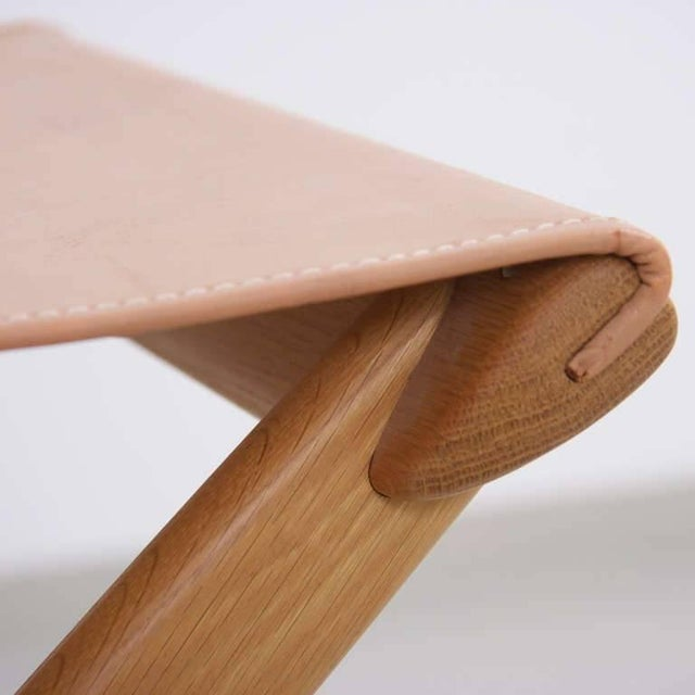 Luxus Folding Stool by Uno and Östen Kristiansson for Luxus Vittsjö For Sale - Image 4 of 5