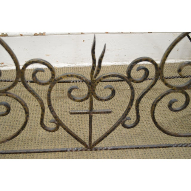 *STORE ITEM #: 16514 Vintage Hand Forged Iron Casket Carrier Base on Castors AGE / ORIGIN: Approx. 75 years, America...