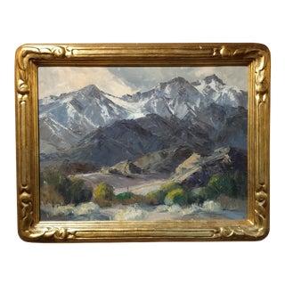 Bennett Bradbury -California Mountain Landscape- Impressionist Oil Painting -C1940s For Sale