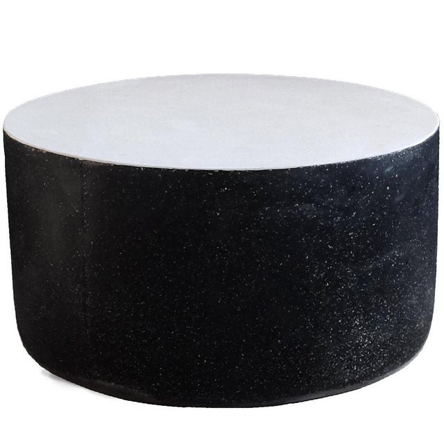 Plastic Cast Resin 'Millstone' Coffee Table, Bw Finish by Zachary A. Design For Sale - Image 7 of 7