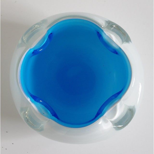 1960's Blue Murano Ashtray For Sale - Image 4 of 6