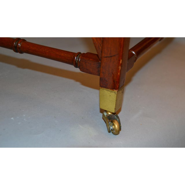 Architectural Decorative Victorian Walnut & Brass Library Steps, Ladder, Stairs For Sale - Image 9 of 13