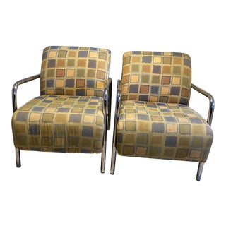 1980s Post Modern Art Deco Style Arm Chairs - a Pair For Sale