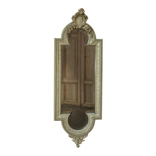 19th Century Italian Louis XVI Painted & Gilded Mirror For Sale