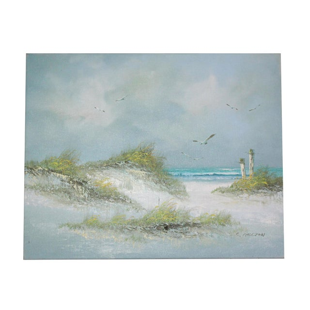 Mid 20th Century Signed Original Seascape Oil Painting by Catherine Parker Melton For Sale - Image 5 of 5
