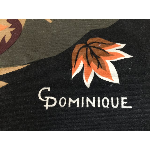 Mid Century French Wool Wall Tapestry - Image 3 of 6
