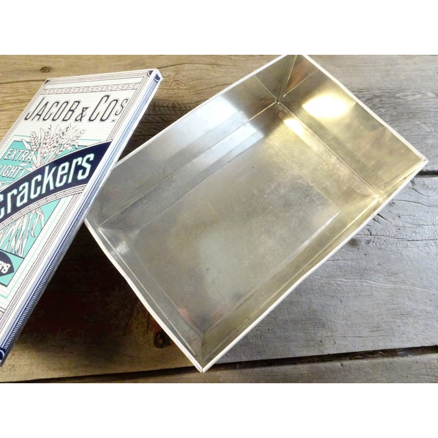 Vintage 'Jacob & Co' Tin Cracker Box For Sale In Seattle - Image 6 of 10