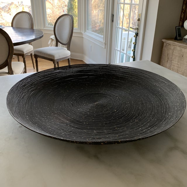 Incredible Large Grey Wire With Gold Flecks Decorative Bowl Gmtry Best Dining Table And Chair Ideas Images Gmtryco