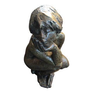 "Mireille Lemarchand ""Elsewhere"" Signed Bronze Sculpture For Sale"
