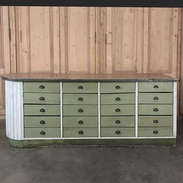 Mid-Century Painted Store Counter For Sale - Image 11 of 13