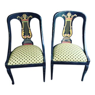 Vintage Painted Side Chairs - A Pair