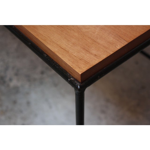 Black Paul McCobb for Winchendon Maple and Iron Console / Media Table For Sale - Image 8 of 13