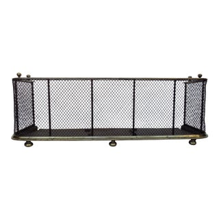 Antique Metal Fireplace Screen For Sale