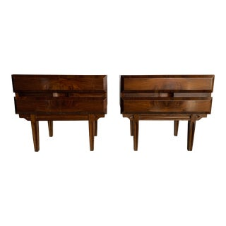 1960s Mid Century Modern Walnut Nightstands - a Pair For Sale