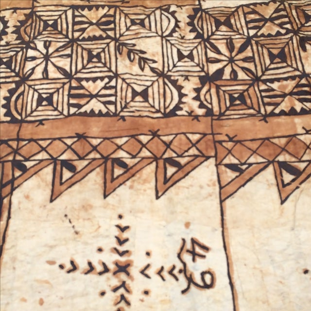 Tapa Cloth Wall Hanging For Sale - Image 5 of 10