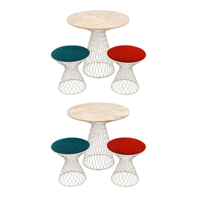 Patricia Urquiola Garden Tables and Stools - Two Sets of 3 (6 Pieces) For Sale