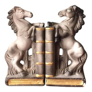 Japanese Equestrian Bookends - A Pair For Sale