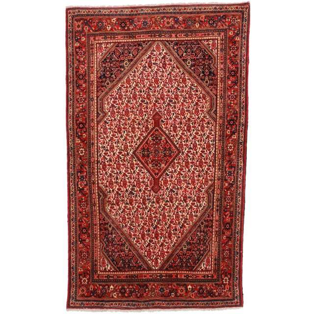 "RugsinDallas Vintage Hand Knotted Persian Jozan Rug-4'3"" X 7'3"" For Sale"