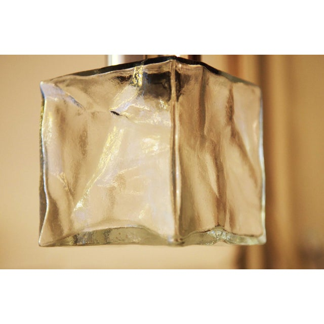Vintage glass and steel wall lamp by JT Kalmar For Sale - Image 10 of 11