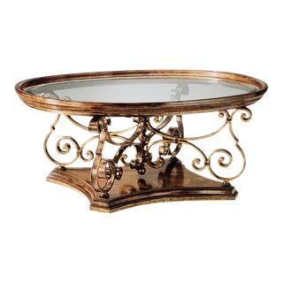 Hollywood Regency Marge Carson Verona Oval Cocktail Table For Sale