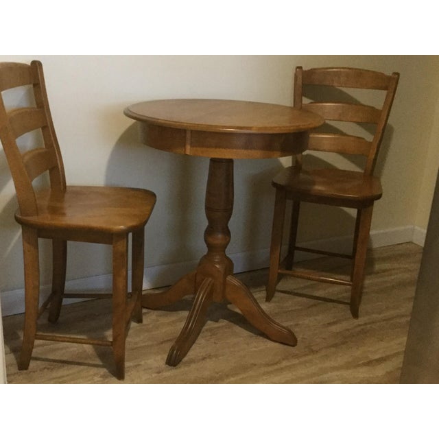 Solid Birch Kitchen Dining Set - Image 5 of 8
