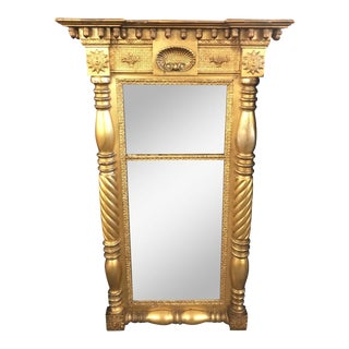 Sheraton Gilt Wall Mirror For Sale