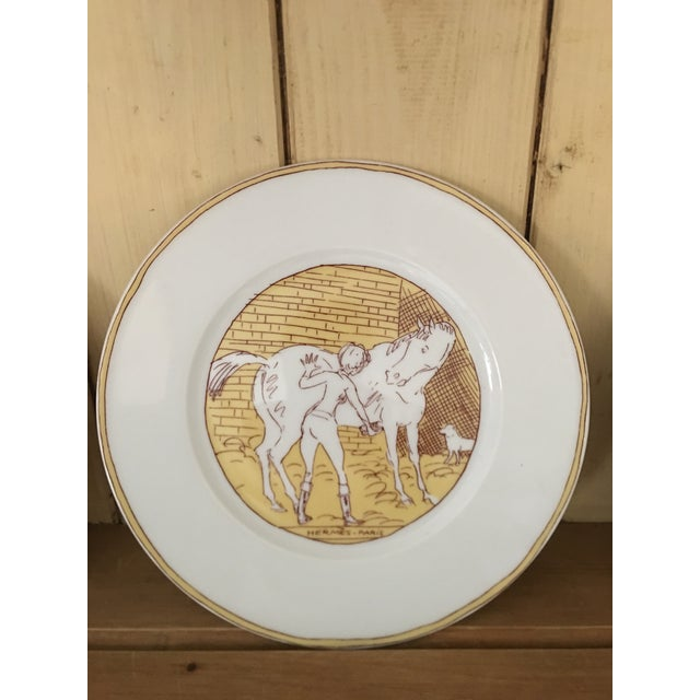 Vintage Hermès 6-Piece Dinner Plate Set For Sale - Image 6 of 10