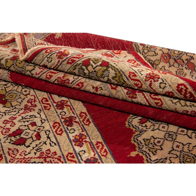 1920s Antique Persian Kerman Rug 3'6'' X 5'2'' For Sale - Image 5 of 13