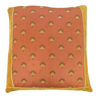 Vintage Art Deco European Textile Pillow For Sale