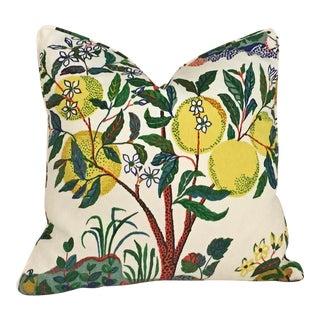 Schumacher Citrus Garden Pillow Cover For Sale