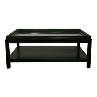 James Mont Evergreen Rectangular Cocktail Table For Sale