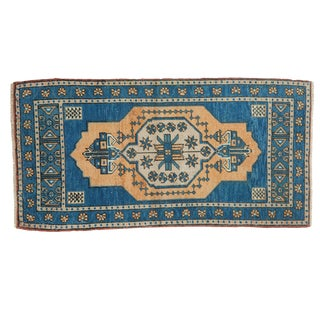 "Vintage Distressed Oushak Rug - 1'11"" X 3'8"" For Sale"