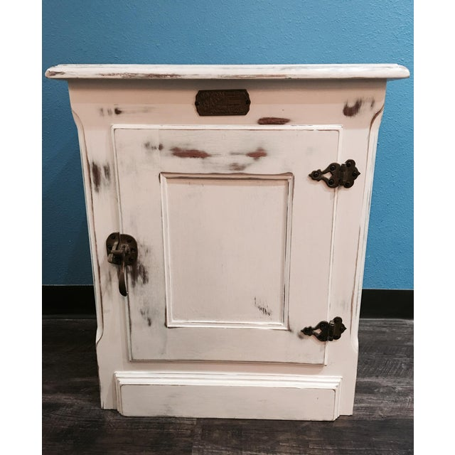 Rustic Ice Box-Style Side Table - Image 2 of 4