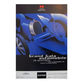 1998 Original Vintage Poster - Alain Levesque - Grand Gala Automobile For Sale