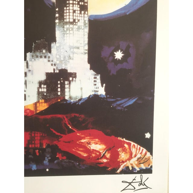 "Salvador Dali ""Manhattan Skyline Tarot the Moon"" Original Limited Edition Lithograph - Image 7 of 8"