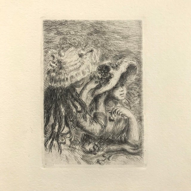 Impressionism Renior 1894 Etching With Museum Glass For Sale - Image 3 of 9