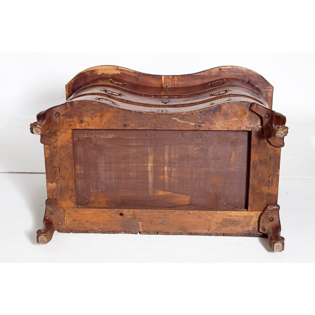 Mid-18th Century Baroque Walnut Three Drawer Chest For Sale - Image 12 of 13