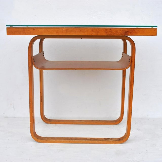 Alvar Aalto Vintage Alvar Aalto 2-Tiered Birch Table For Sale - Image 4 of 8