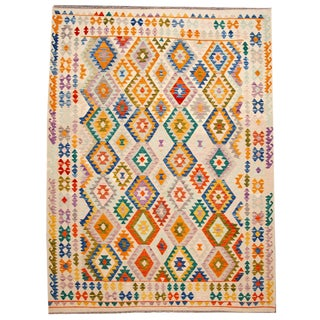 "Modern Flatweave Kilim Rug, 8'6"" X 11'3"" For Sale"